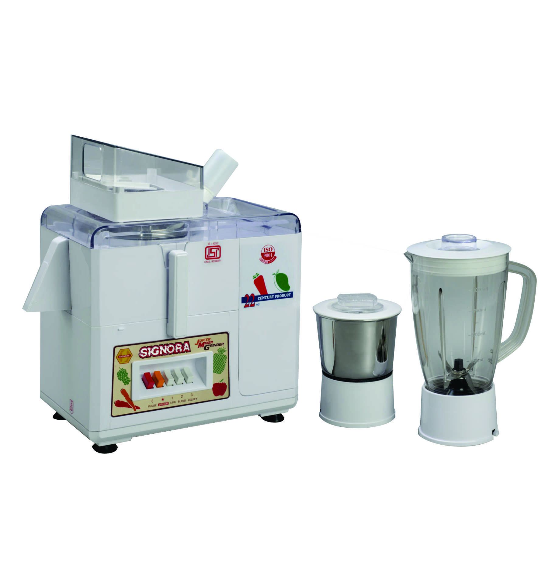 SignoraCare 500 Watts Juicer Mixer Grinder(Seed collector)